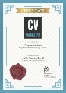 Awarded Coaching Top 50 | Augmentable Marketing Limited